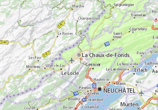 Carte-Plan La Chaux-de-Fonds