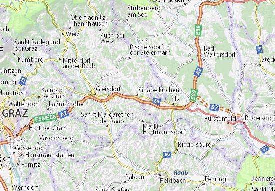 Mapas-Planos Sinabelkirchen