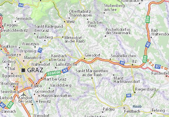 Mapas-Planos Gleisdorf