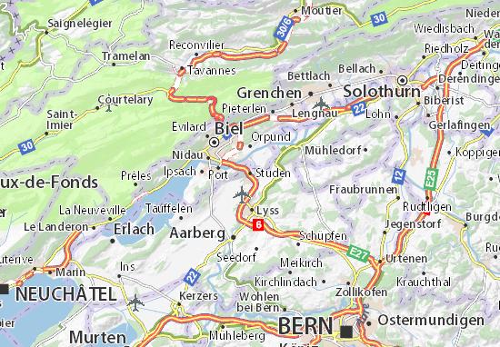Karte Stadtplan Studen