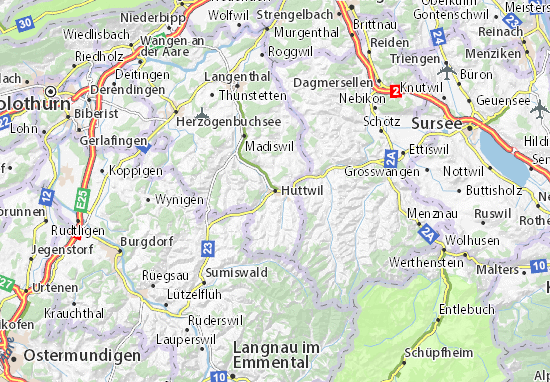 Carte-Plan Huttwil
