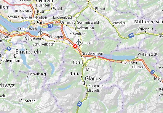 Niederurnen Map