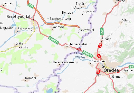 Map Of Biharkeresztes Michelin Biharkeresztes Map ViaMichelin - Oradea map