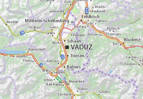Karte Stadtplan Masescha