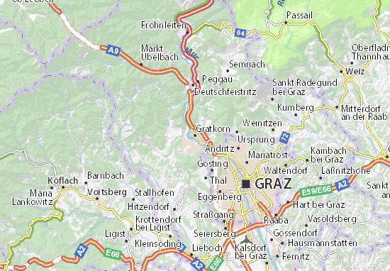 Mapas-Planos Gratkorn
