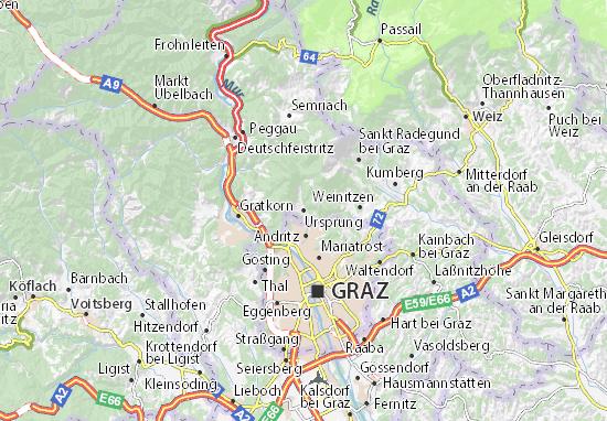 Karte Stadtplan Ursprung