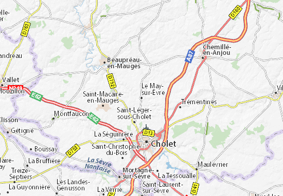 Carte-Plan Le May-sur-Èvre