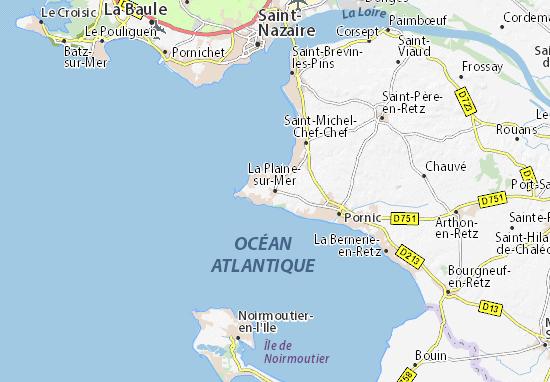 Carte-Plan La Plaine-sur-Mer