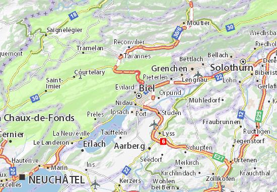 Karte Stadtplan Biel