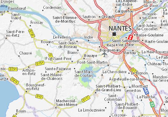 Kaart Plattegrond Bouaye