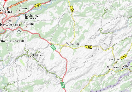 Mapa Plano Valdahon