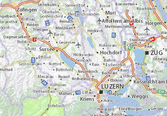 Karte Stadtplan Hildisrieden