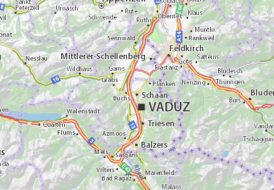 Carte-Plan Schaan