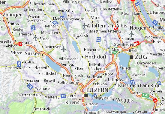 Kaart Plattegrond Hochdorf