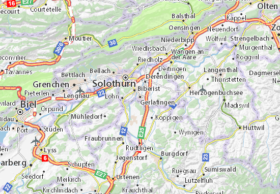 Carte-Plan Gerlafingen