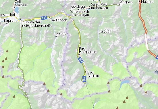 Mapa Plano Bad Hofgastein