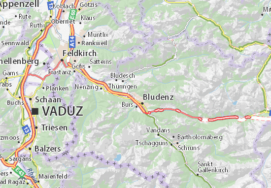 Nüziders Map