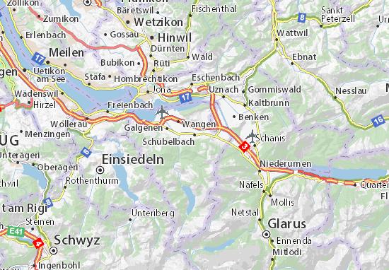 Schübelbach Map