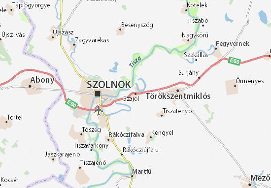 Szajol Map
