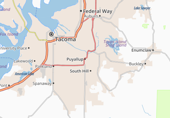 Puyallup Map