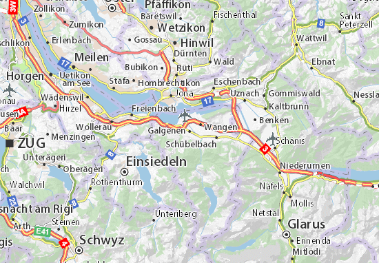 Galgenen Map