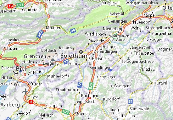 Karte Stadtplan Biberist