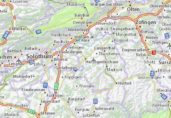 Karte Stadtplan Herzogenbuchsee