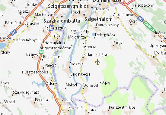 Mapas-Planos Kiskunlacháza
