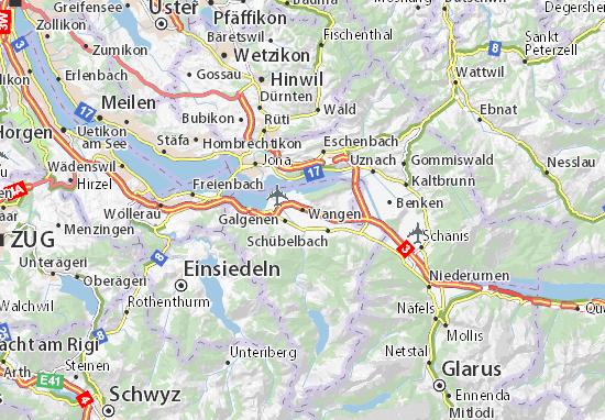 Karte Stadtplan Wangen