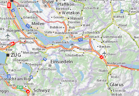 Karte Stadtplan Lachen