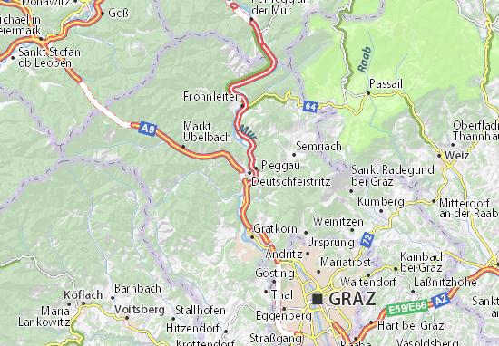 Mapa Plano Deutschfeistritz