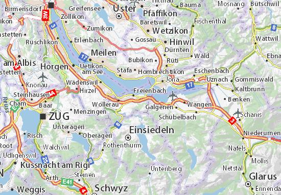 Mapa Plano Pfäffikon