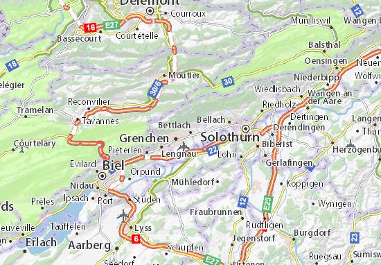 Karte Stadtplan Bettlach