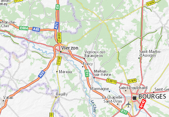 Vignoux-sur-Barangeon Map