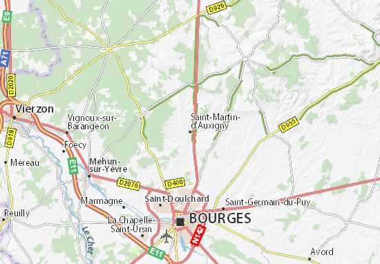 Saint-Martin-d'Auxigny Map