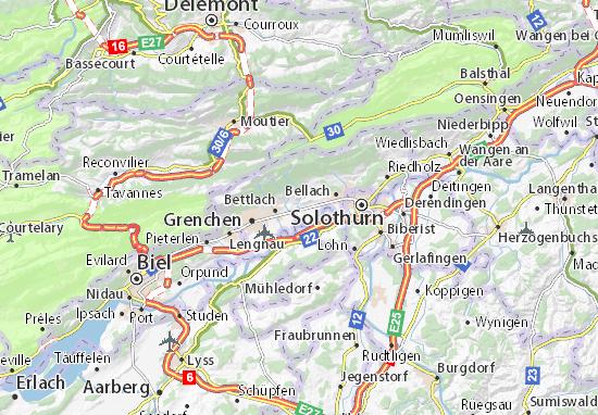Mapa Plano Selzach