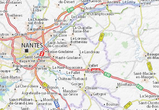 Carte-Plan Le Landreau