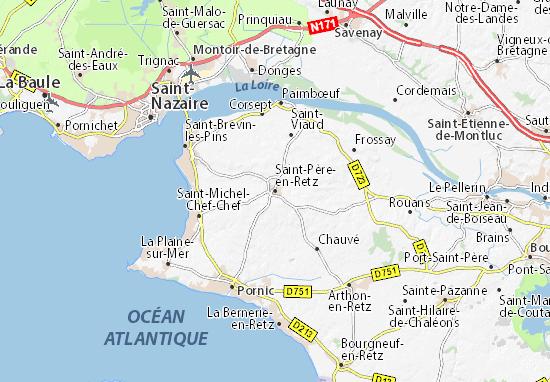 Karte Stadtplan Saint-Père-en-Retz
