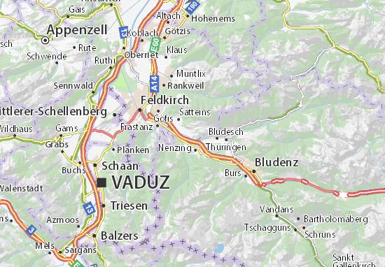 Schlins Map