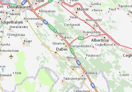 Újhartyán Map