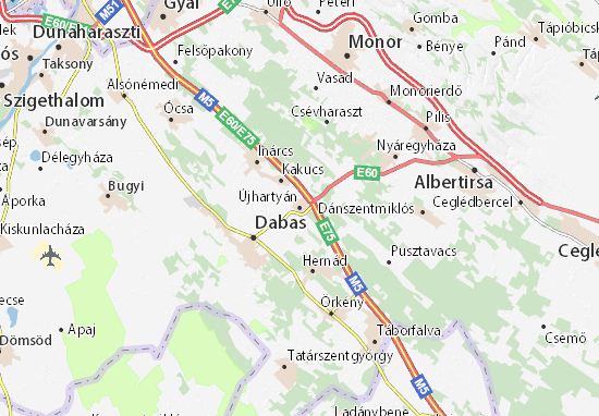 Mapas-Planos Újhartyán