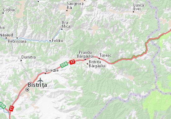 Mapa Plano Prundu Bârgăului