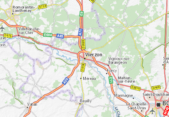 map of vierzon michelin vierzon map viamichelin. Black Bedroom Furniture Sets. Home Design Ideas
