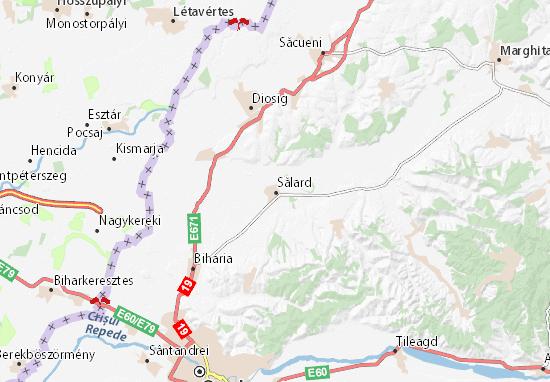 Map Of Sălard Michelin Sălard Map ViaMichelin - Oradea map
