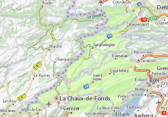 Carte-Plan Le Noirmont