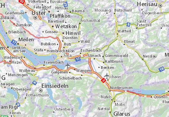 Karte Stadtplan Schmerikon
