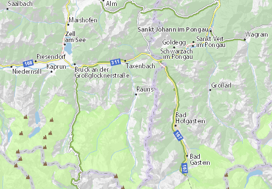 Karte Stadtplan Rauris