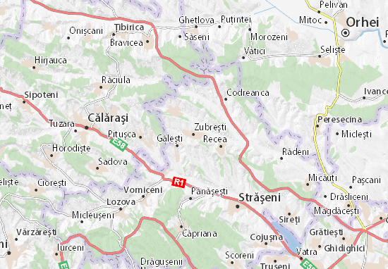 Zubreşti Map