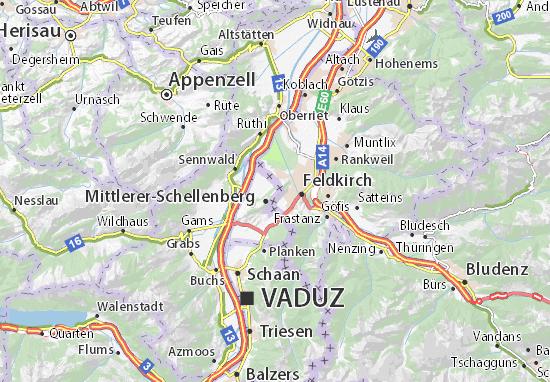 Mapa Plano Hinterer-Schellenberg