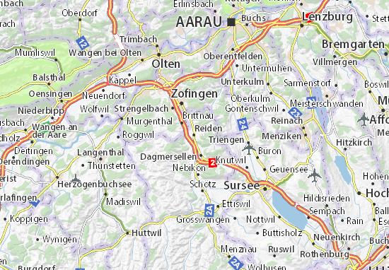 Karte Stadtplan Reiden